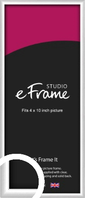 Contemporary Silver Picture Frame, 4x10