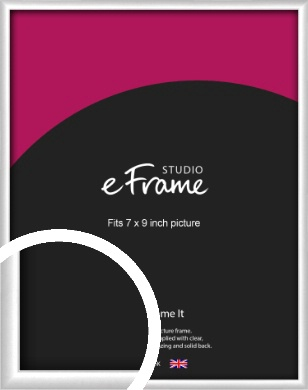 Contemporary Silver Picture Frame, 7x9