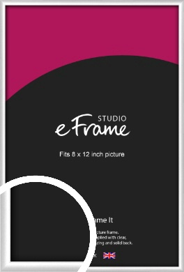 Contemporary Silver Picture Frame, 8x12