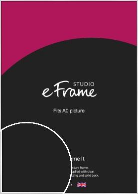 Contemporary Silver Picture Frame, A0 (841x1189mm) (VRMP-A035-A0)