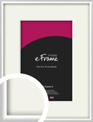 Contemporary Silver Picture Frame & Mount, 10x15cm (4x6