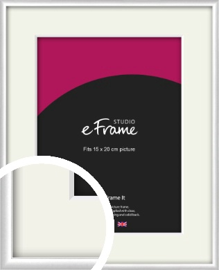 Contemporary Silver Picture Frame & Mount, 15x20cm (6x8