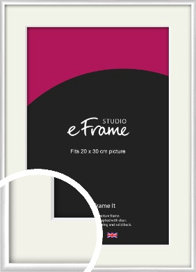 Contemporary Silver Picture Frame & Mount, 20x30cm (8x12