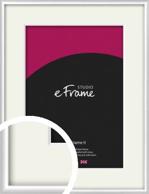 Contemporary Silver Picture Frame & Mount (VRMP-A035-M)