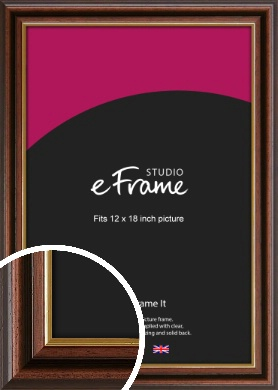 Graduation Style Brown Picture Frame, 12x18