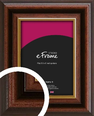 Graduation Style Brown Picture Frame, 3.5x5