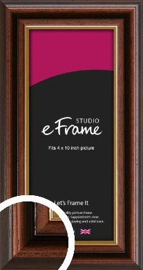 Graduation Style Brown Picture Frame, 4x10