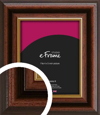 Graduation Style Brown Picture Frame, 4x5