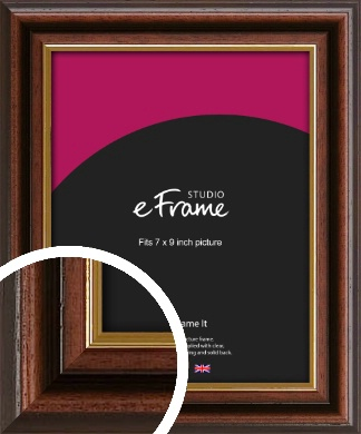 Graduation Style Brown Picture Frame, 7x9