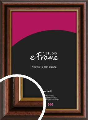Graduation Style Brown Picture Frame, 8x12