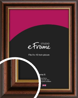 Graduation Style Brown Picture Frame, 9x12