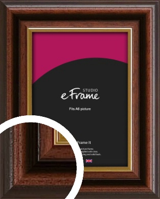 Graduation Style Brown Picture Frame, A6 (105x148mm) (VRMP-303-A6)