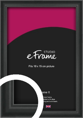 Modern Curved Black Picture Frame, 10x15cm (4x6