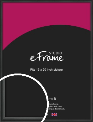 Modern Curved Black Picture Frame, 15x20