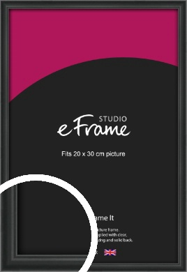 Modern Curved Black Picture Frame, 20x30cm (8x12