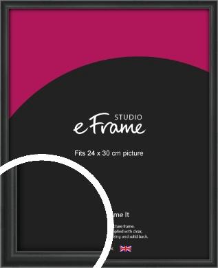Modern Curved Black Picture Frame, 24x30cm (VRMP-A002-24x30cm)