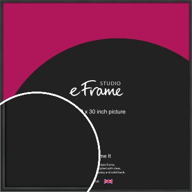Modern Curved Black Picture Frame, 30x30