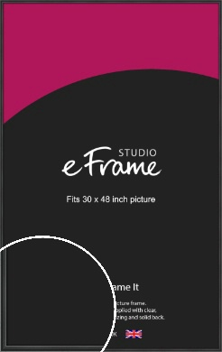 Modern Curved Black Picture Frame, 30x48