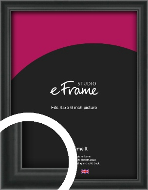 Modern Curved Black Picture Frame, 4.5x6