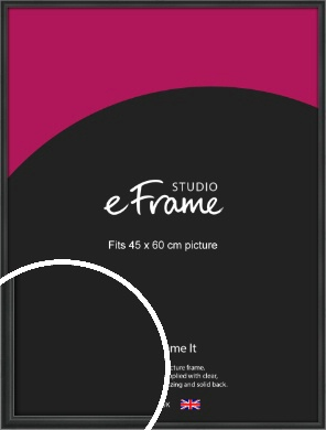 Modern Curved Black Picture Frame, 45x60cm (VRMP-A002-45x60cm)