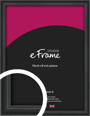 Modern Curved Black Picture Frame, 6x8