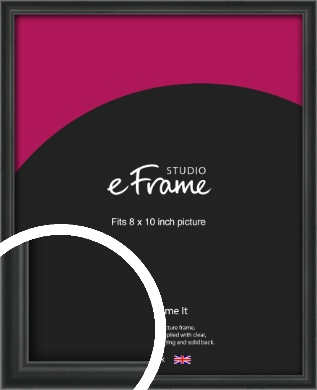 Modern Curved Black Picture Frame, 8x10