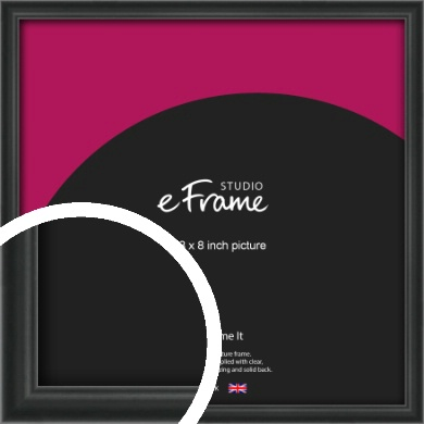 Modern Curved Black Picture Frame, 8x8