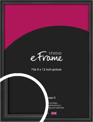 Modern Curved Black Picture Frame, 9x12