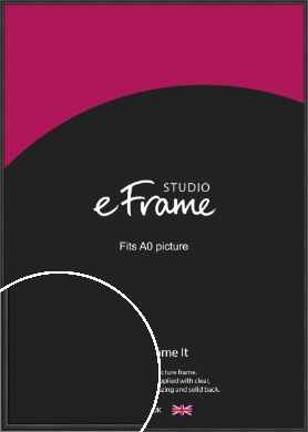 Modern Curved Black Picture Frame, A0 (841x1189mm) (VRMP-A002-A0)