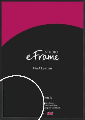 Modern Curved Black Picture Frame, A1 (594x841mm) (VRMP-A002-A1)