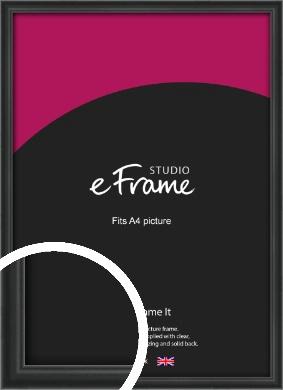 Modern Curved Black Picture Frame, A4 (210x297mm) (VRMP-A002-A4)