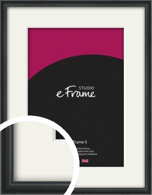 Modern Curved Black Picture Frame & Mount (VRMP-A002-M)