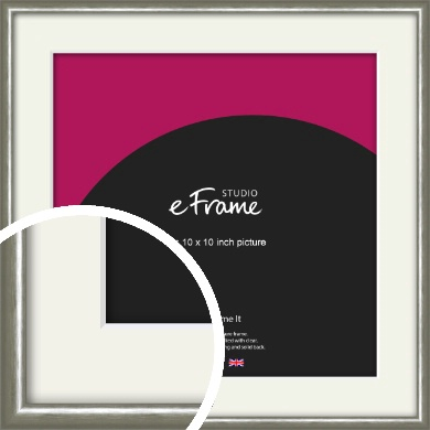 Mercurial Grey Picture Frame & Mount, 10x10