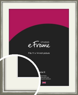 Mercurial Grey Picture Frame & Mount, 11x14