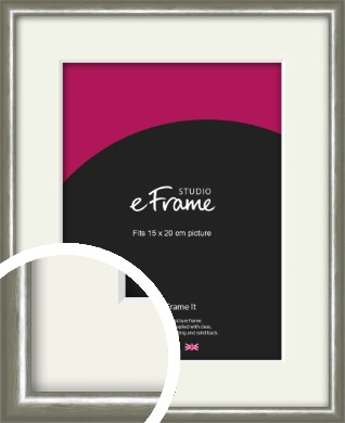 Mercurial Grey Picture Frame & Mount, 15x20cm (6x8
