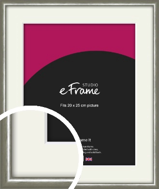 Mercurial Grey Picture Frame & Mount, 20x25cm (8x10