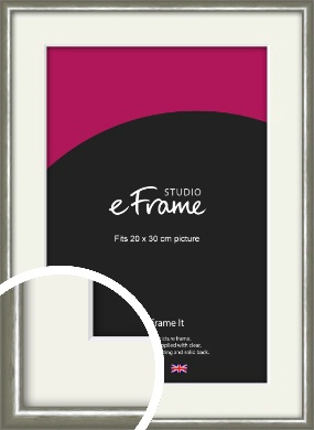 Mercurial Grey Picture Frame & Mount, 20x30cm (8x12