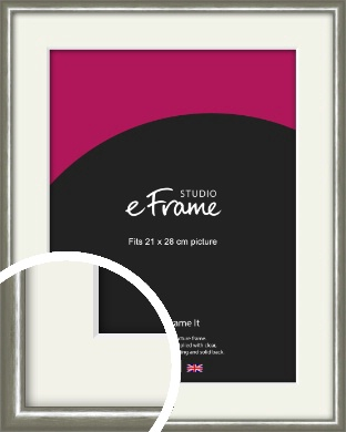 Mercurial Grey Picture Frame & Mount, 21x28cm (VRMP-A005-M-21x28cm)