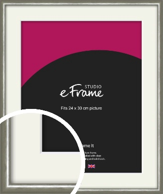 Mercurial Grey Picture Frame & Mount, 24x30cm (VRMP-A005-M-24x30cm)