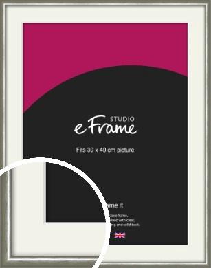 Mercurial Grey Picture Frame & Mount, 30x40cm (VRMP-A005-M-30x40cm)