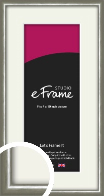 Mercurial Grey Picture Frame & Mount, 4x10