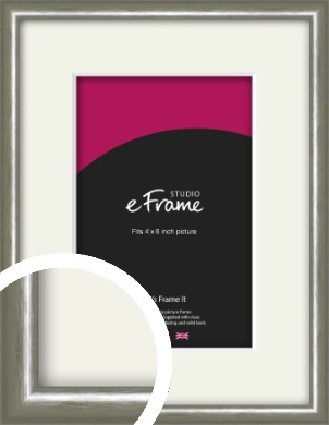 Mercurial Grey Picture Frame & Mount, 4x6