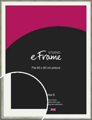 Mercurial Grey Picture Frame & Mount, 60x80cm (VRMP-A005-M-60x80cm)