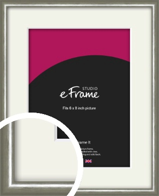 Mercurial Grey Picture Frame & Mount, 6x8
