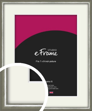 Mercurial Grey Picture Frame & Mount, 7x9