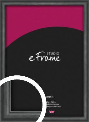 Brushed Curved Black Picture Frame (VRMP-A006)