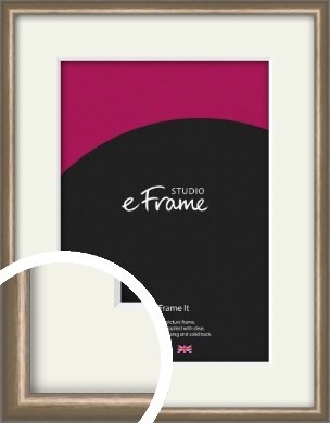 Cushioned Brushed Bronze / Copper Picture Frame & Mount (VRMP-A007-M)
