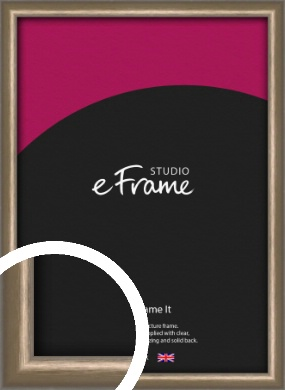 Cushioned Brushed Bronze / Copper Picture Frame (VRMP-A007)