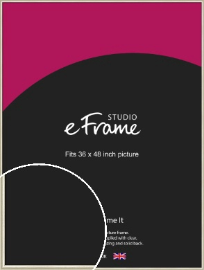 Brushed Champagne Gold & Silver Picture Frame, 36x48