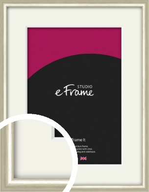 Brushed Champagne Gold & Silver Picture Frame & Mount (VRMP-A008-M)